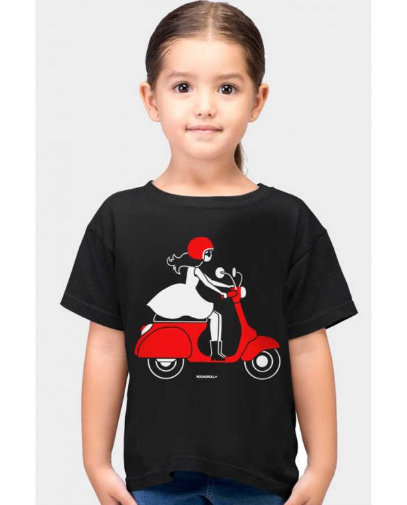 Girl's Short Sleeve Black T-shirt