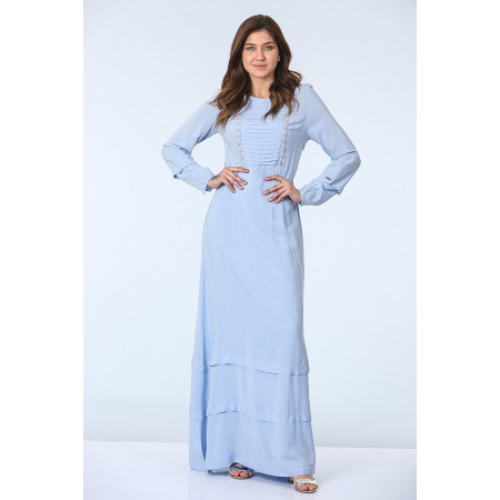 Women's Pearl Blue Long Dress