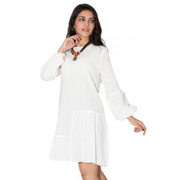 Women's Basic Cream Tunic