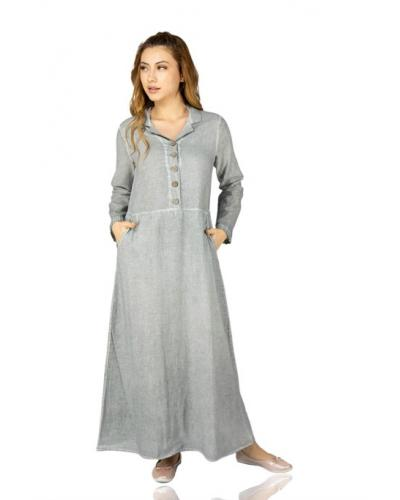 Women's Grey Long Dress