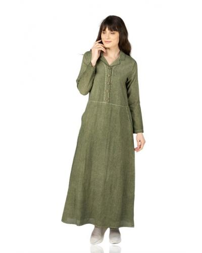 Women's Khaki Long Dress