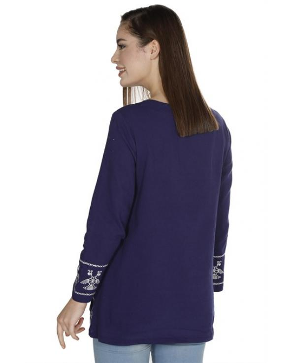 Women's Embroidered Purple Blouse
