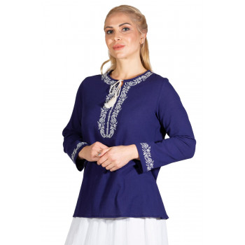 Women's Long Sleeves Purple Blouse