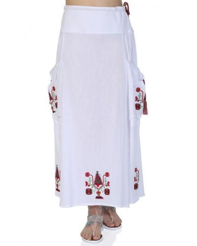 Women's White Long Skirt
