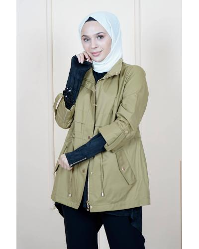 Women's Belted Khaki Trenchcoat