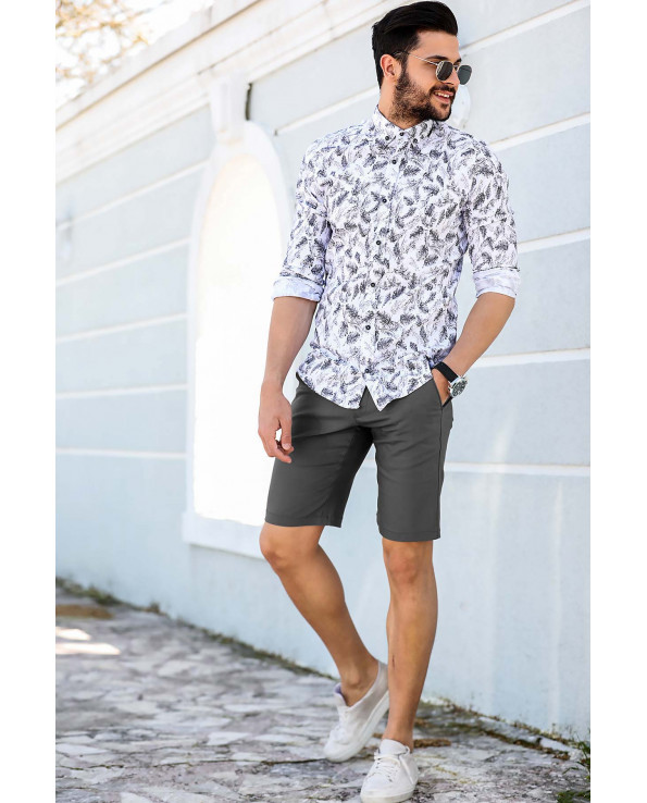 Men's Pocket Smoky Fabric Shorts