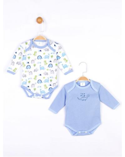 Baby's Long Sleeves Snapsuit - 2 Pieces