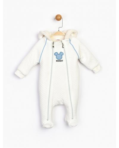 Baby Boy's Hooded Quilted Winter Romper