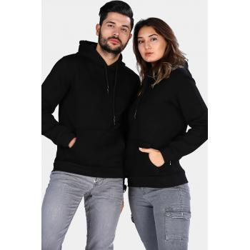 Men's Hooded Black Sweatshirt