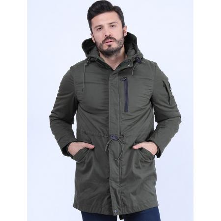 Men's Pocketed Khaki Coat