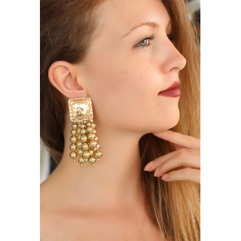 Women's Gold Dangle Earrings