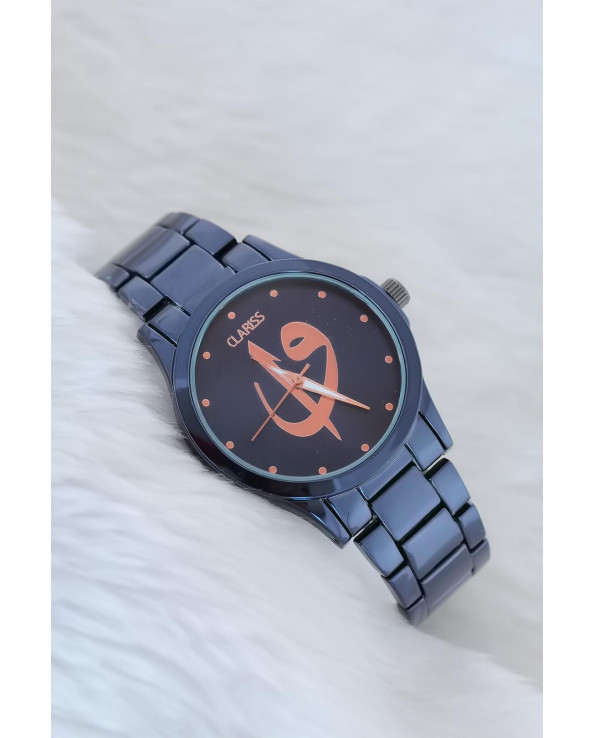 Women's Navy Blue Metal Watch