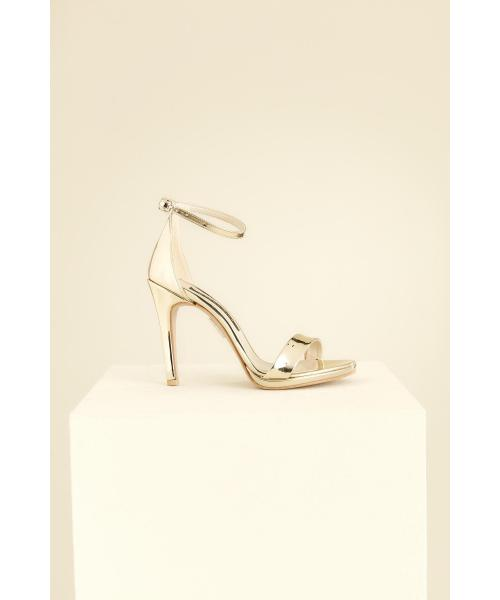 Women's Gold Heeled Sandals