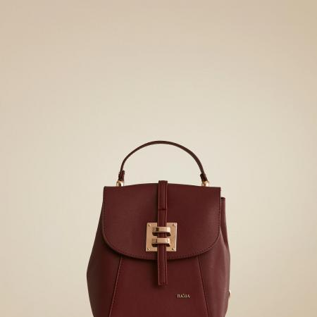 Women's Claret Red Leather Bag