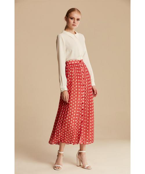 Women's High Waist Midi Skirt