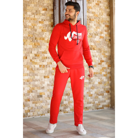 Printed Red Training Suit
