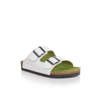 Unisex White Casual Slippers
