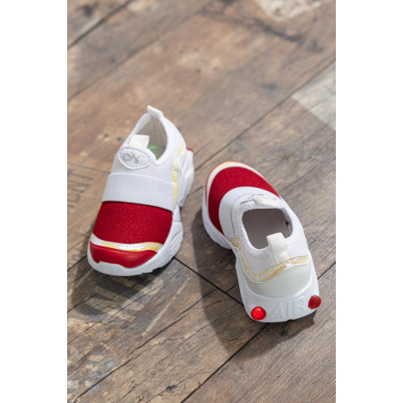 Kid's Red- White Sport Shoes