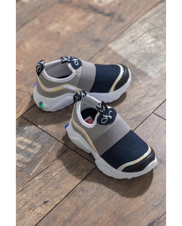Kid's Navy Blue- Ice Sport Shoes