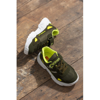 Kid's Khaki- Yellow Sport Shoes