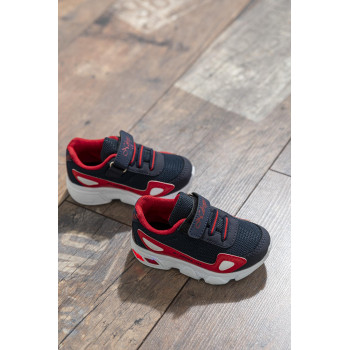 Kid's Navy Blue- Red Sport Shoes