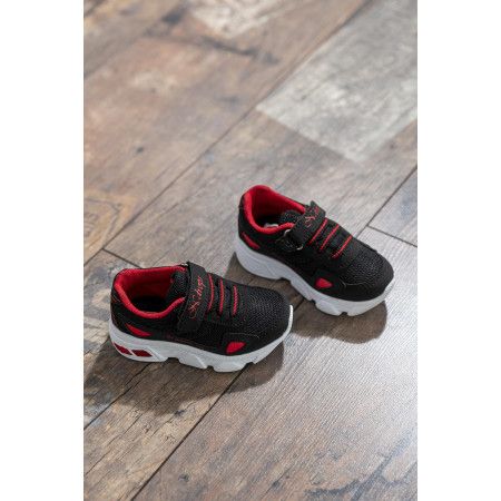 Kid's Black- Red Sport Shoes