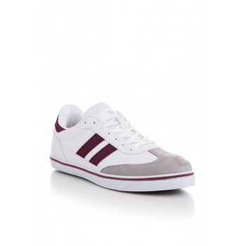 Unisex White Claret Red Sport Shoes
