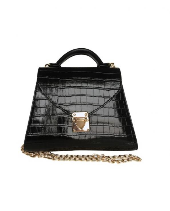 Women's Chain Strap Black Cross Bag