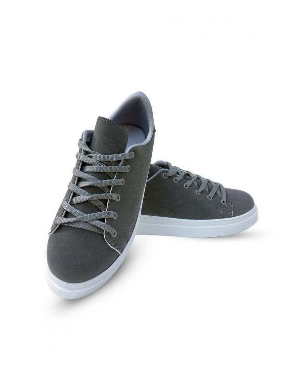 Women's Lace-up Grey Suede Sport Shoes