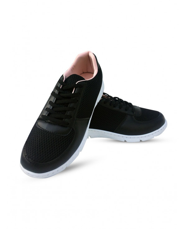 Women's Filet Detail Black Sport Shoes