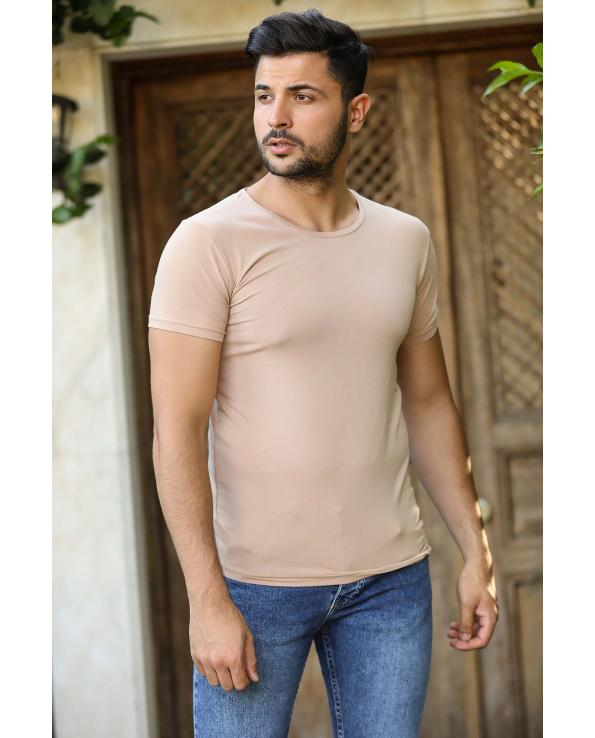 Men's Basic Beige T-shirt