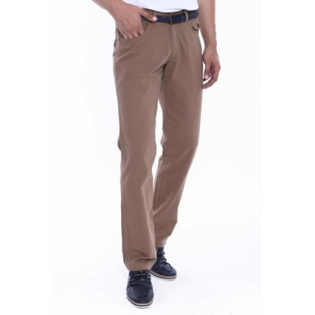 Men's Flap Pocket Brown Suede Pants