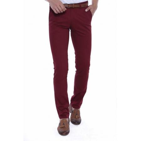 Men's Pocket Claret Red Pants