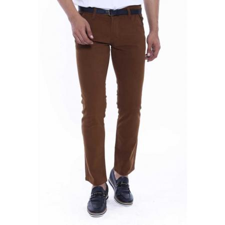 Men's Brown Gabardine Pants