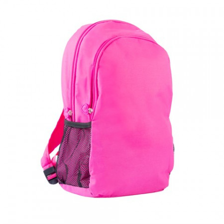 Unisex Zipped Pink Backpack