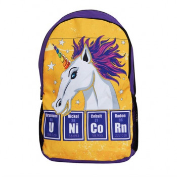 Unisex Multi-color Unicorn Print School Bag / Backpack