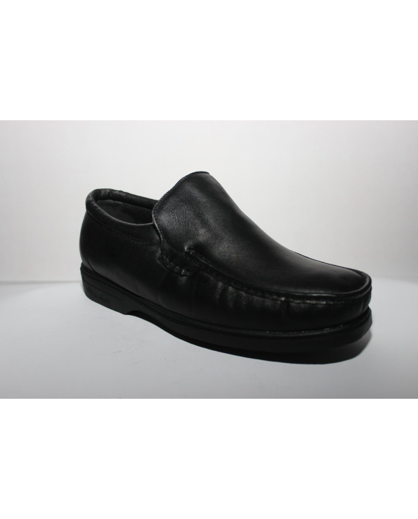 Official boots comfortable Spanish leather, black , Large Size