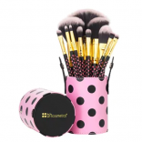 BH Cosmetics Pink Dot Collection Brush Set - 11 Piece