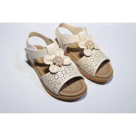 GIRLS SANDAL LEATHER VERY LITE RBL BASE Beige COLOR