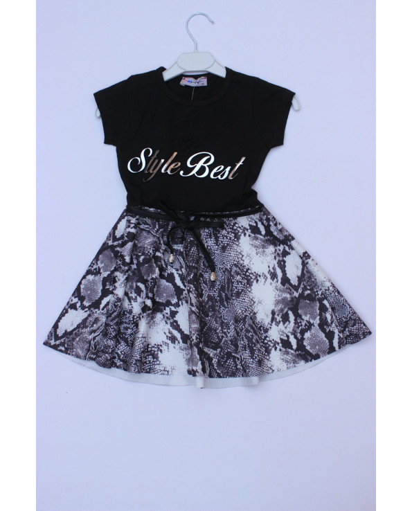 Newborn lace dress with snake skin style