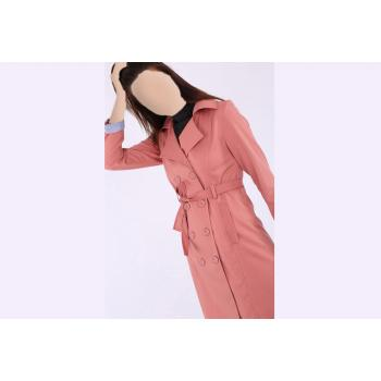 Women's Belted Button Jacket